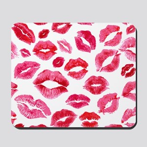 Lipstick Prints Mousepad